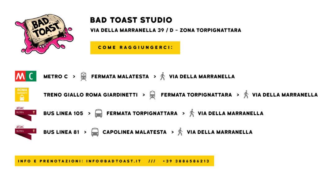 Bad Toast Come Raggiungerci